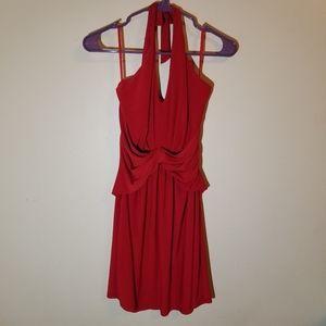 *HOST PICK* Boston Proper halter top red Rio Dress